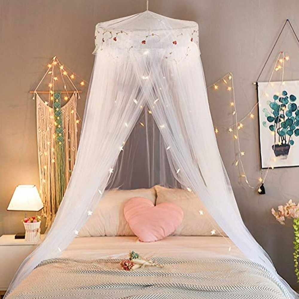 Princess Hung Dome Mosquito Net  Romantic Students Repellent Tent Insect Reject Canopy Bed Curtain Lace Round Bedcover Bed Tents