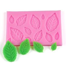 ФОТО 3d leaves diy silicone cake mold  fondant chocolate cupcake cake decorating baking mould kitchen accessories