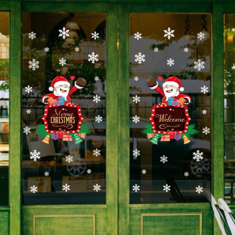 Hearty Graphics Decals Santa Claus Novelty Sticker Car Stickers Reflective 3d Design Lovely Window Door Decoration Various Styles Exterior Accessories
