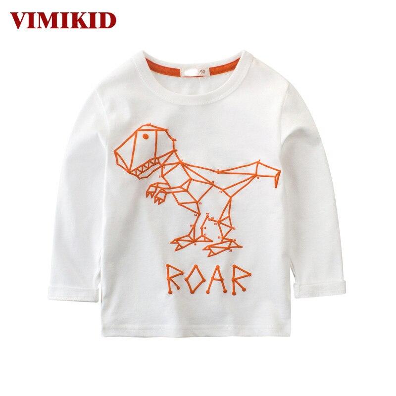 VIMIKID Boys Clothing T shirt 2017 Autumn Shirt Dinosaur ...