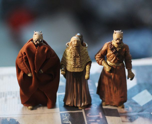 ФОТО figure Sand People Tusken Raider action figures aliens mold 3 pcs/set