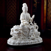 Dai Yutang Dehua porcelain statues ornaments home/Wen Shupu Yin bodhisattva enshrined white marble D01 050