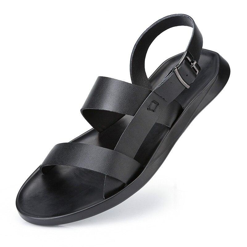 Qwedf Pescador Zapatos De Hombre Sandalias Genuino Cuero wuOZiklXTP