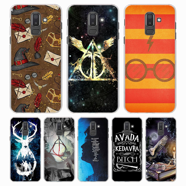 buy popular 5d2ba 6b23d US $2.3 34% OFF cartoon Harry Potter Style Clear Frame hard back Phone Case  for Samsung Galaxy J4 J6 J8 2018 J3 J5 J7 2017 J7 Prime-in Half-wrapped ...