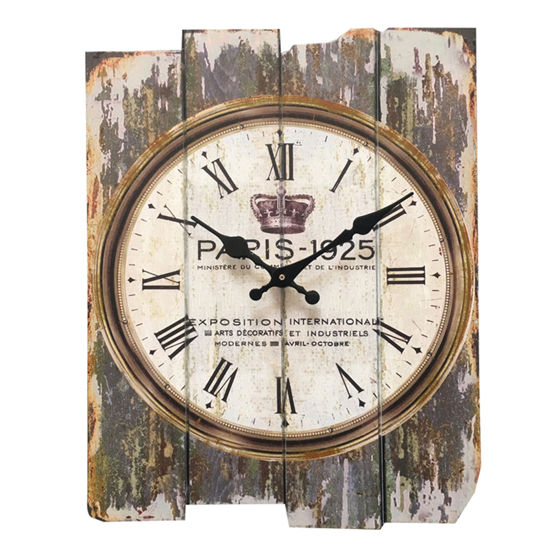 30*40Cm England Wall Clock Wood Vintage Retro Style Square Mute Wall Hanging Clocks Watch Home Decor 2018