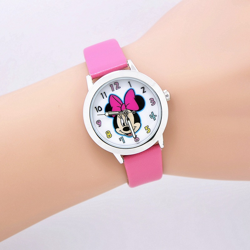 Mouse cartoon watch children watches kids quartz wristwatch child boy clock girl gift relogio infantil reloj ninos montre enfant