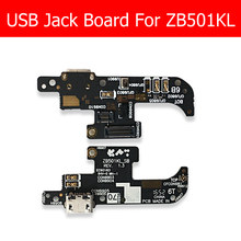 Genuine Micro USB Charger Dock Board For Asus Zenfone Live ZB501KL USB Charging Connector with microphone jack board Replacement(China)