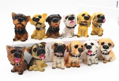 Bureau résine chien animal pendule 5 CM hauteur H 12 célèbre résine chien chiot + cadre d'affichage statues décoration de la maison ornement poupées