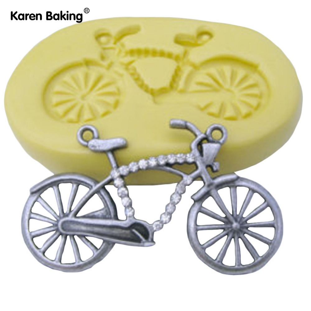 Aliexpress.com : Buy Fashion Bicycle Shape 3D Silicone Fondant Mold Cake Decorating Tools ...
