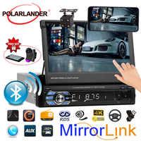 7 polegada rádio cassete player ligação 3 idiomas tela tft carro rádio mp5 mp4 1 din áudio vídeo usb/sd/mmc tela de toque autoradio