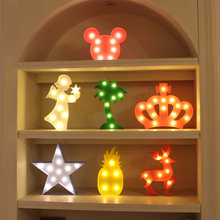 цена на Flamingo LOVE Star 3D Night Light LED Standing Lamp Snowflake Lights Luminaria Children Toys Home Wedding Decoration