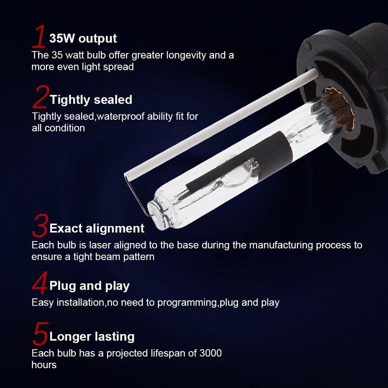 Safego 2pcs 12V D2R Xenon žarnica Kovinsko držalo xenon d2r 4300k - Avtomobilske luči - Fotografija 5