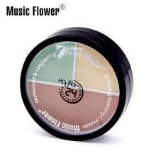 Официальная музыка цветок полное покрытие 3 в 1 пресс консилер крем для лица Гладкий Водонепроницаемый Пот стойкий макияж увлажняющий