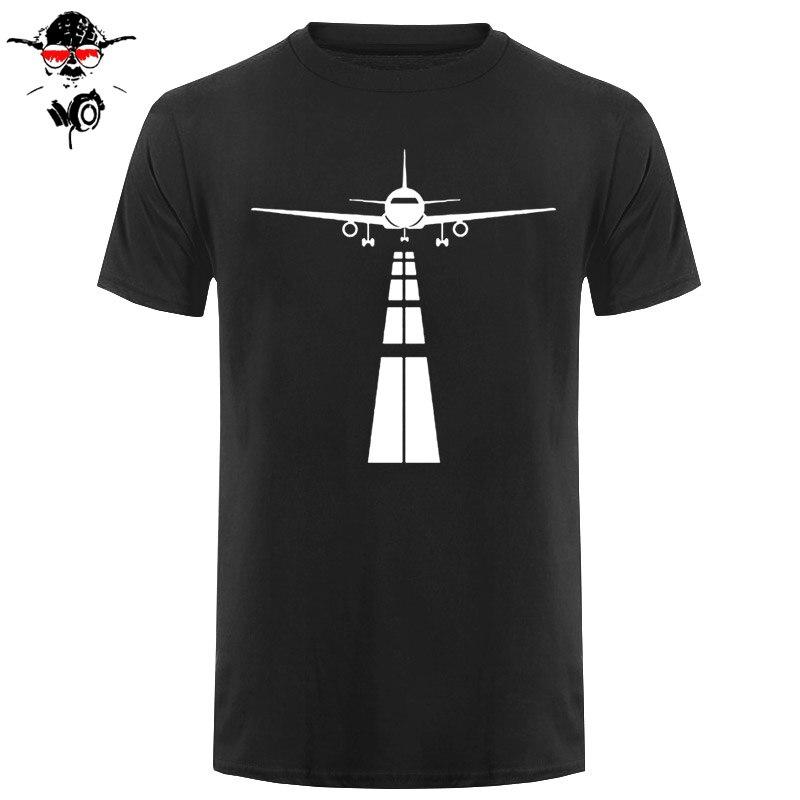 Pilot Airplane T Shirt Men Summer Short Sleeve Eat Sleep Fly Repeat Vintage T-Shirt Cotton Tees Black
