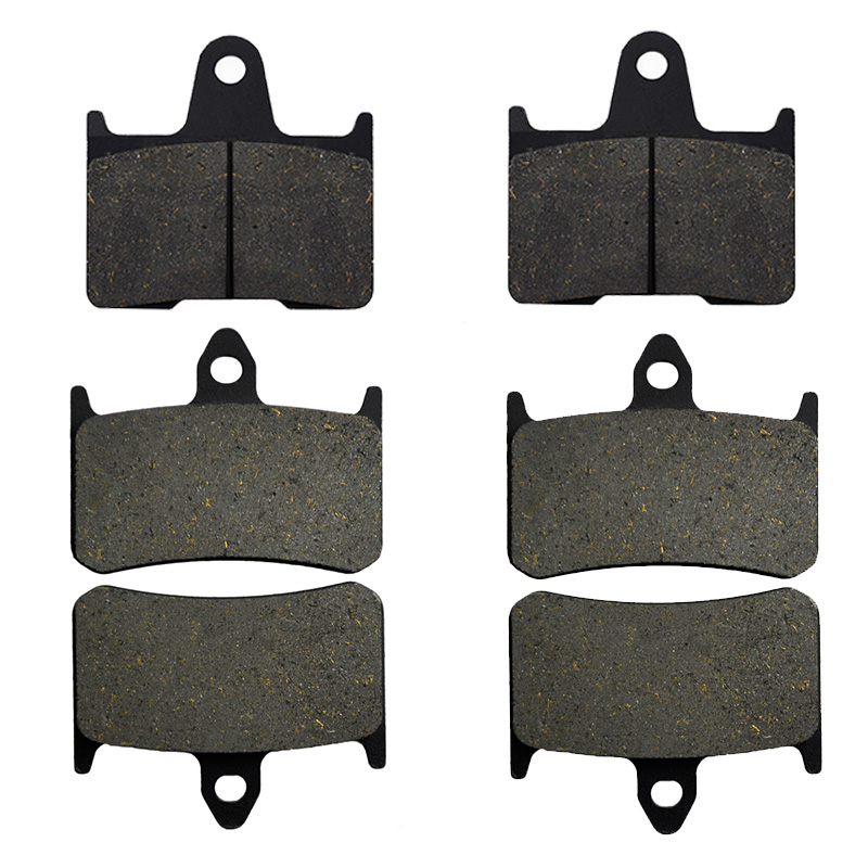 Motorcycle Parts Front & Rear Brake Pads Kit For HONDA CB1300 CB 1300 X4 DCV DCW DCX DCY SC38 1997-2000 Metal & Brass Alloys kingsun rear adjustable ball joint camber control suspension arm kit for 1990 1997 honda accord acura cl tl1996 1999 blue
