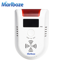 Free shipping 1pcs New Wireless High Sensitivity Voice Gas Leakage Detector lpg Detecting Device Kitchen Security Alarm Sensor