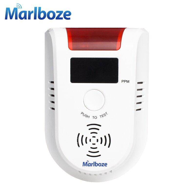 Kostenloser versand 1 stücke Neue Drahtlose Hohe Empfindlichkeit Stimme Gas Leckage Detektor lpg Erkennen Gerät Küche Sicherheit Alarm Sensor