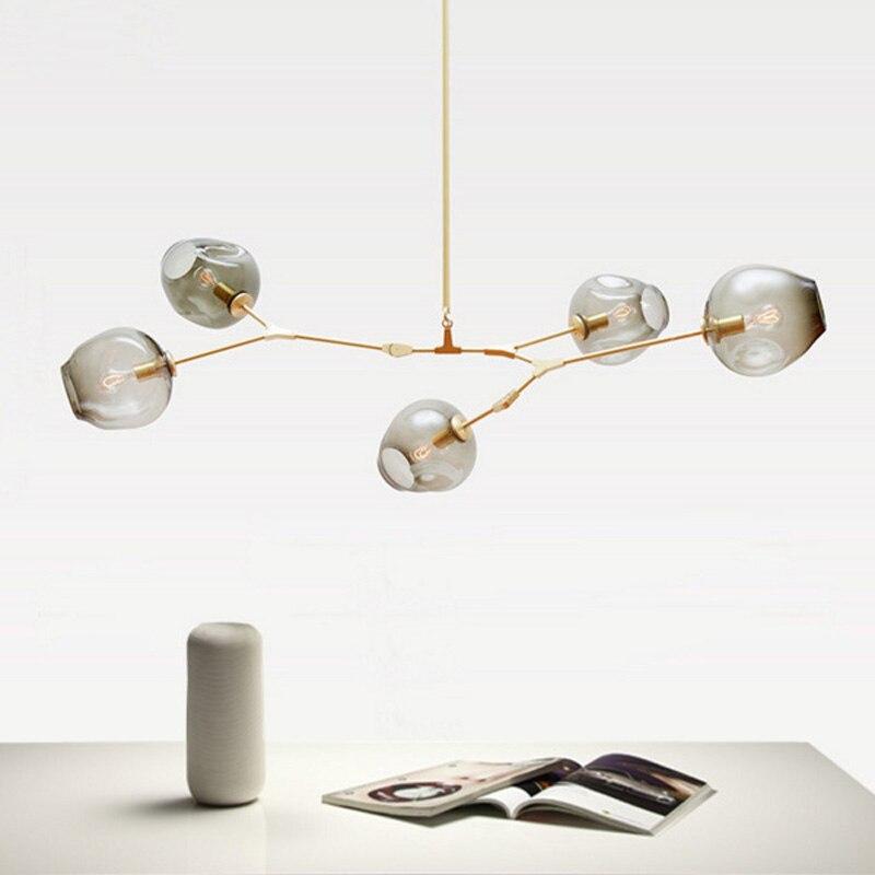 Modern Glass <font><b>Pendant</b></font> Light Nordic Dining Room Kitchen Light Designer Hanging Lamps Avize Lustre Lighting