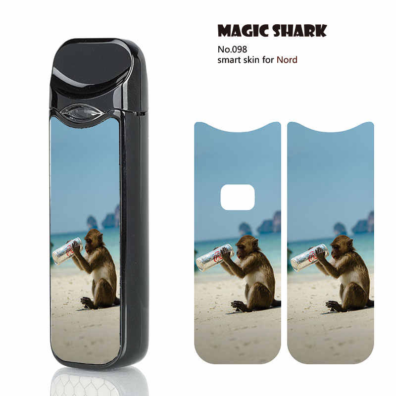 Magic Shark Diablo Buddha Statue Monkey Dot 2 5D PVC NO FADE Case Cover  Sticker for Smok Nord Film for Smok Nord