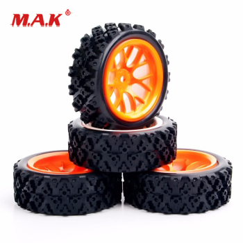 4Pcs/Set 1:10 Scale Tyres and Wheel Rims with 6mm Offset fit RC Off Road Car Model Toys Accessories image