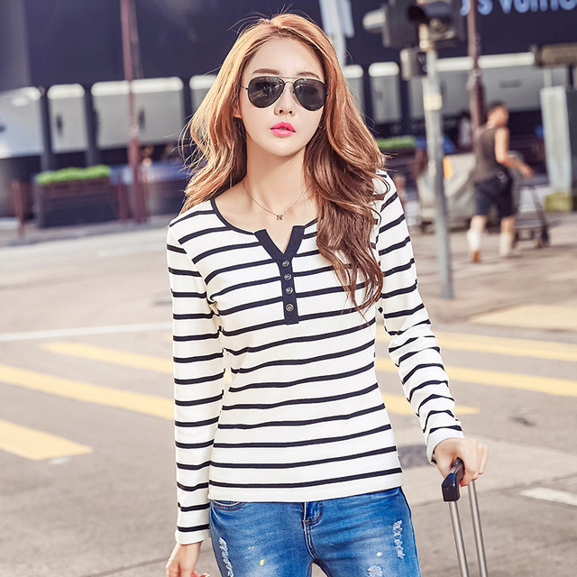 JX YSY 2017 Autumn Winter Korean T-shirts For Women Cotton Fashion T Shirt Women Long-sleeved Female Plus Size Tops Tee