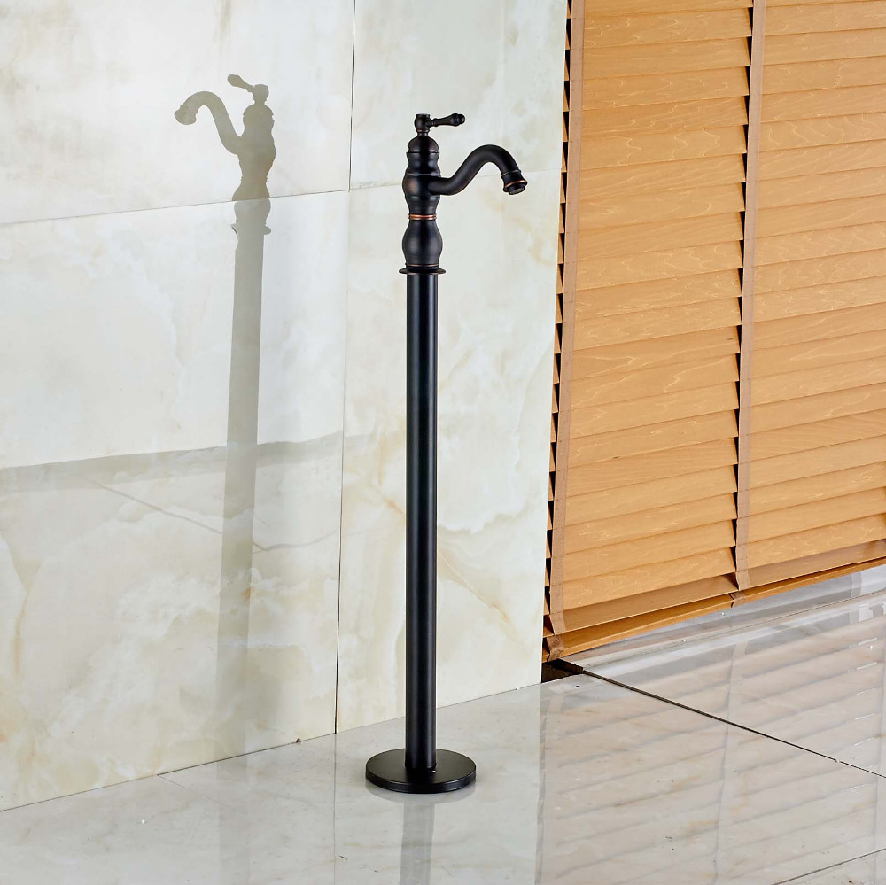 New Free Standing Single Lever Handle Bathtub Faucet Oil Rubbed Bronze Mixer Tap