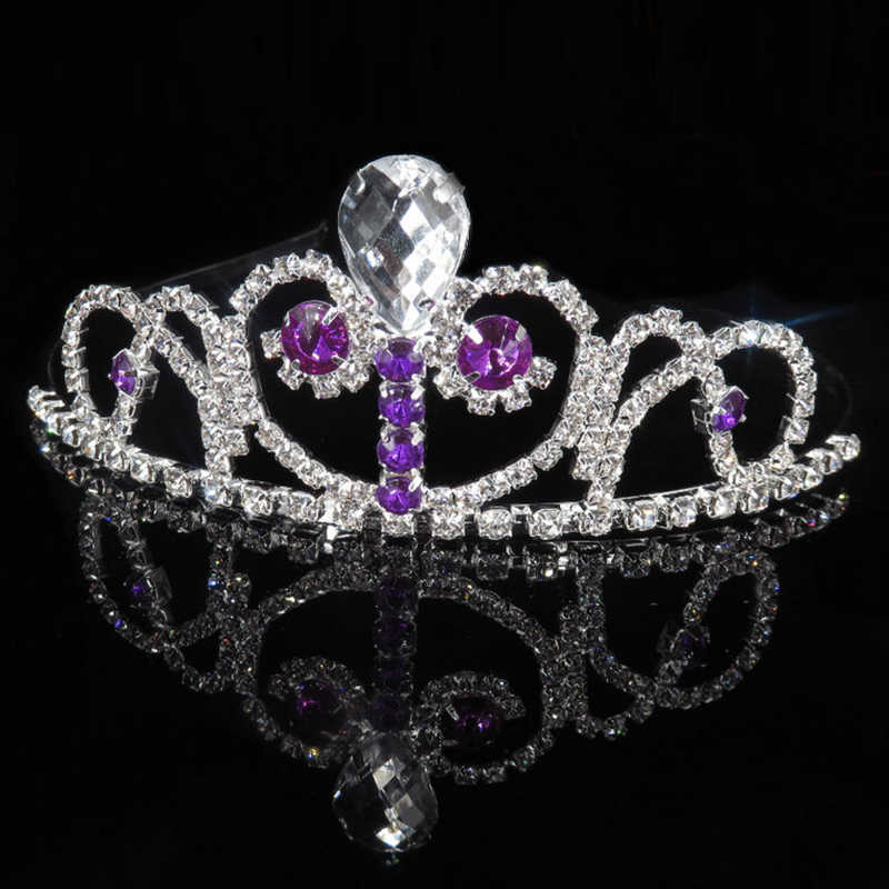 Katesolo เจ้าหญิง Queen คริสตัล Tiaras & Crowns แถบคาดศีรษะหวีเด็กรักเจ้าสาวพรหมงานแต่งงานอุปกรณ์เสริมเครื่องประดับผม
