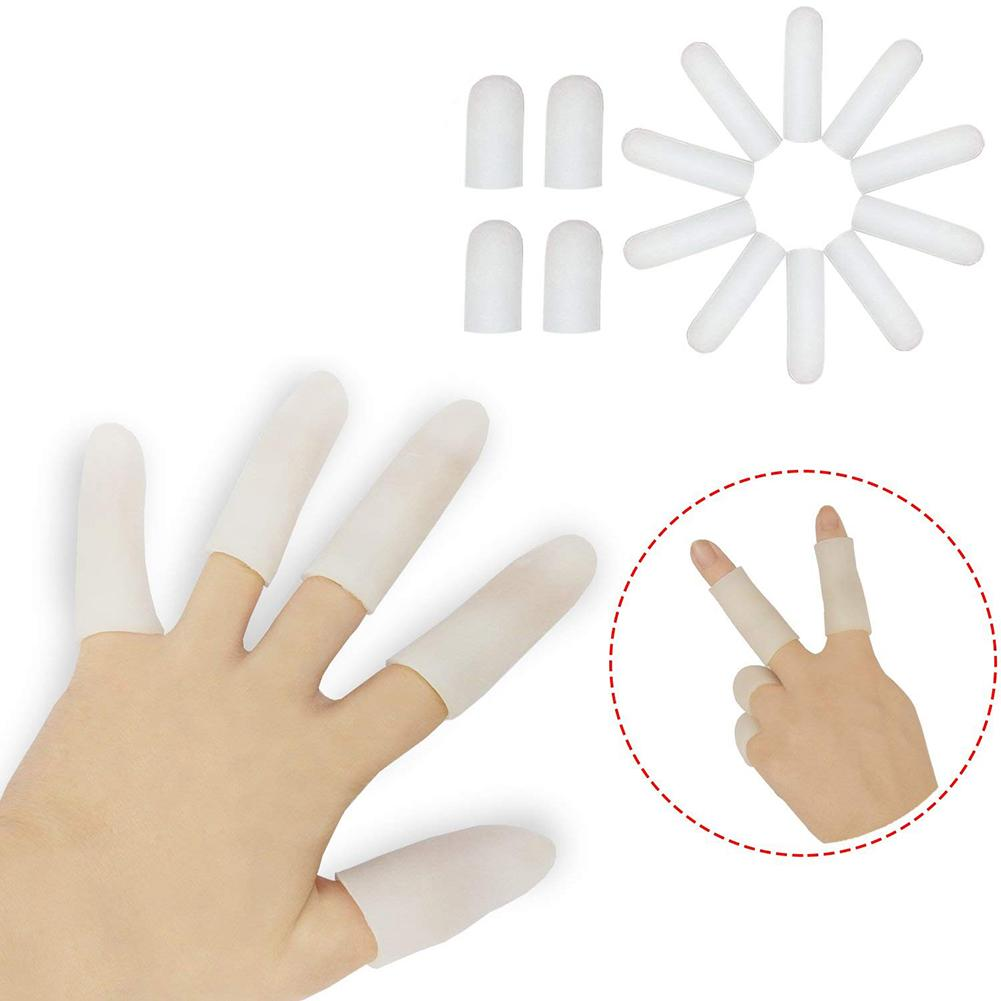 2Pcs Silicone Gel Finger Protectors Finger Caps Fingertips Cover Protection Finger Cots Protect Cracked And Dry Finger