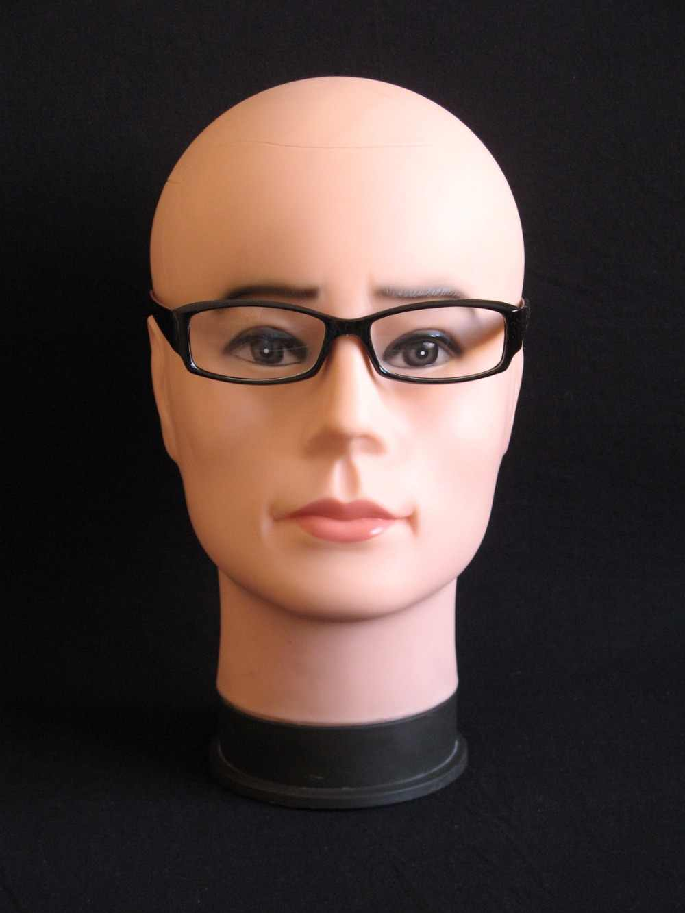 Realistic Plastic Male Mannequin Dummy Head For Hat & Glass  Display, Manikin Heads