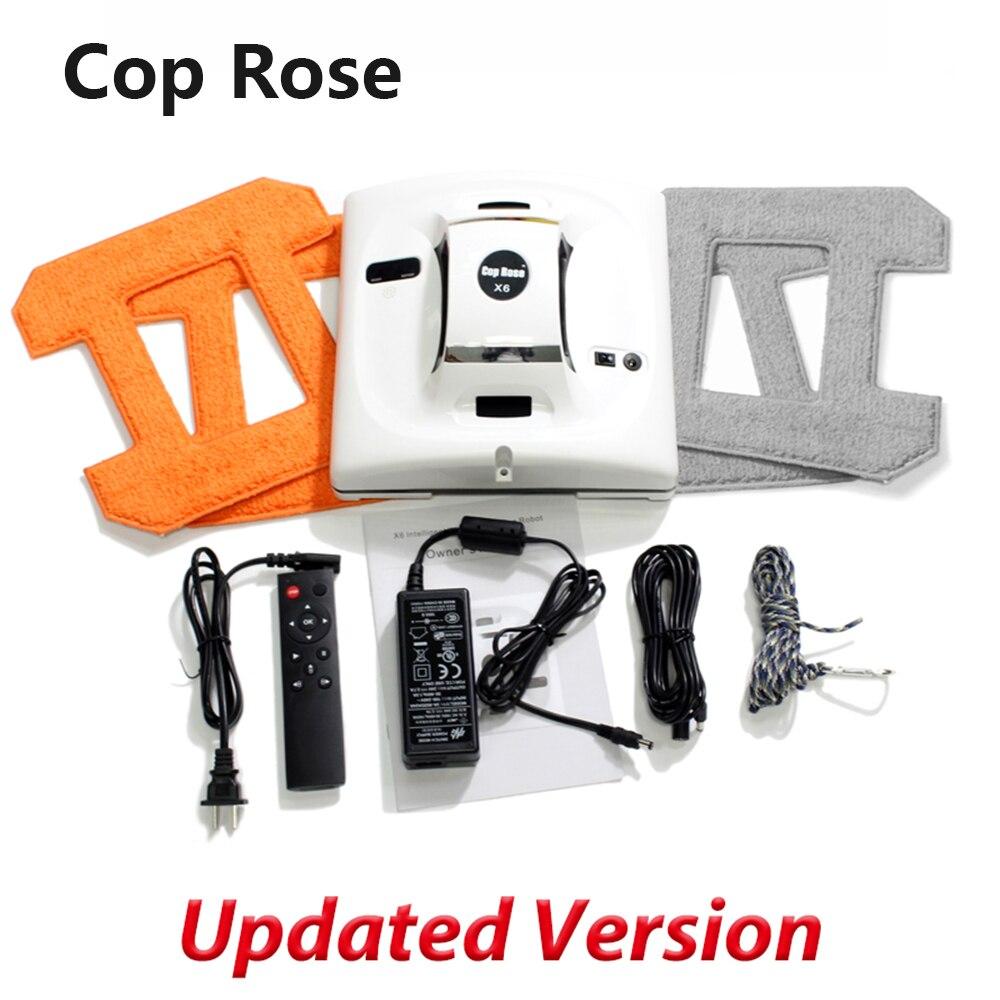 Robot de nettoyage automatique de vitres COP ROSE X6, laveuse intelligente, télécommande, outil d'aspirateur en verre d'algorithme Anti-chute UPS