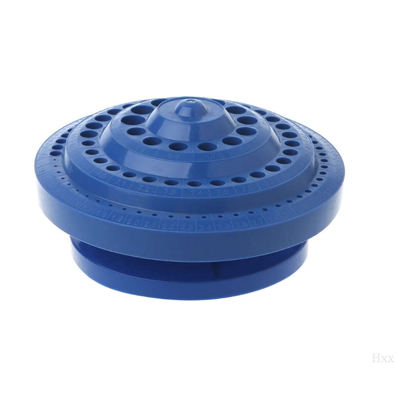 Drill Bit Storage Case Stand Round Shape Hard Plastic Organizer 100Pcs Hole Tool Hxx