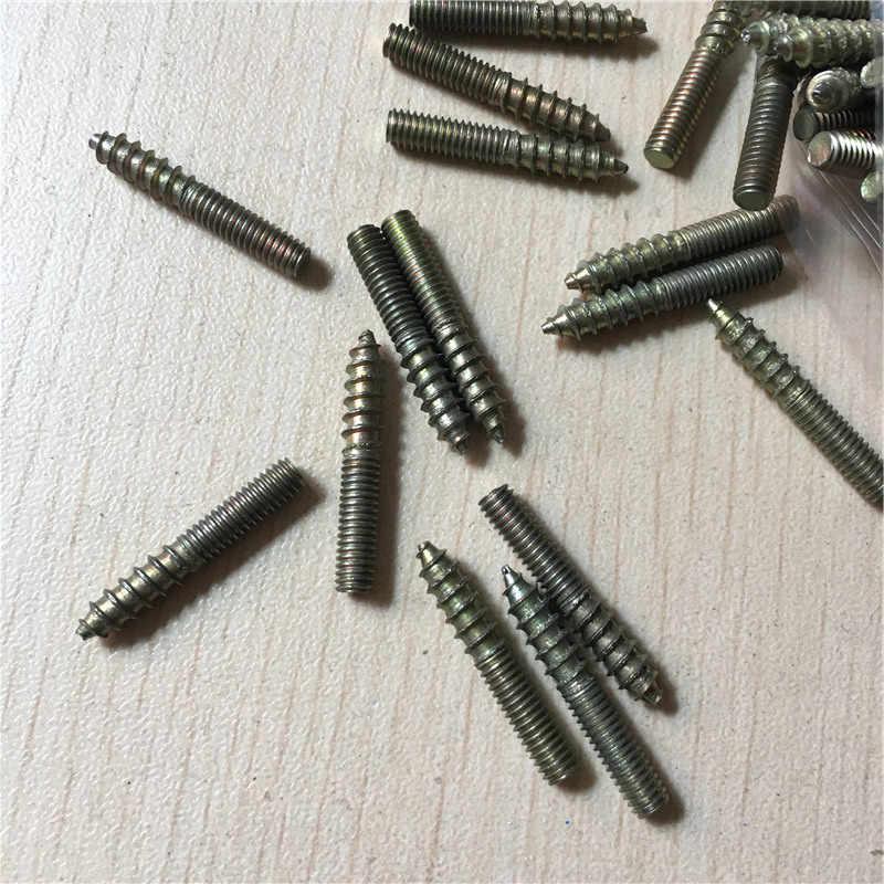 ダブルタッピンねじ、スタッド金属、ダブル-ネジスクリュー家具ソファ階段ネジボルトねじ、炭素鋼、m8m10、10ピース