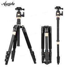 QZSD Q555 Professional Portable Aluminum alloy Camera Tripod&Monopod for Canon Nikon Sony SLR Camera Speedlite Flash