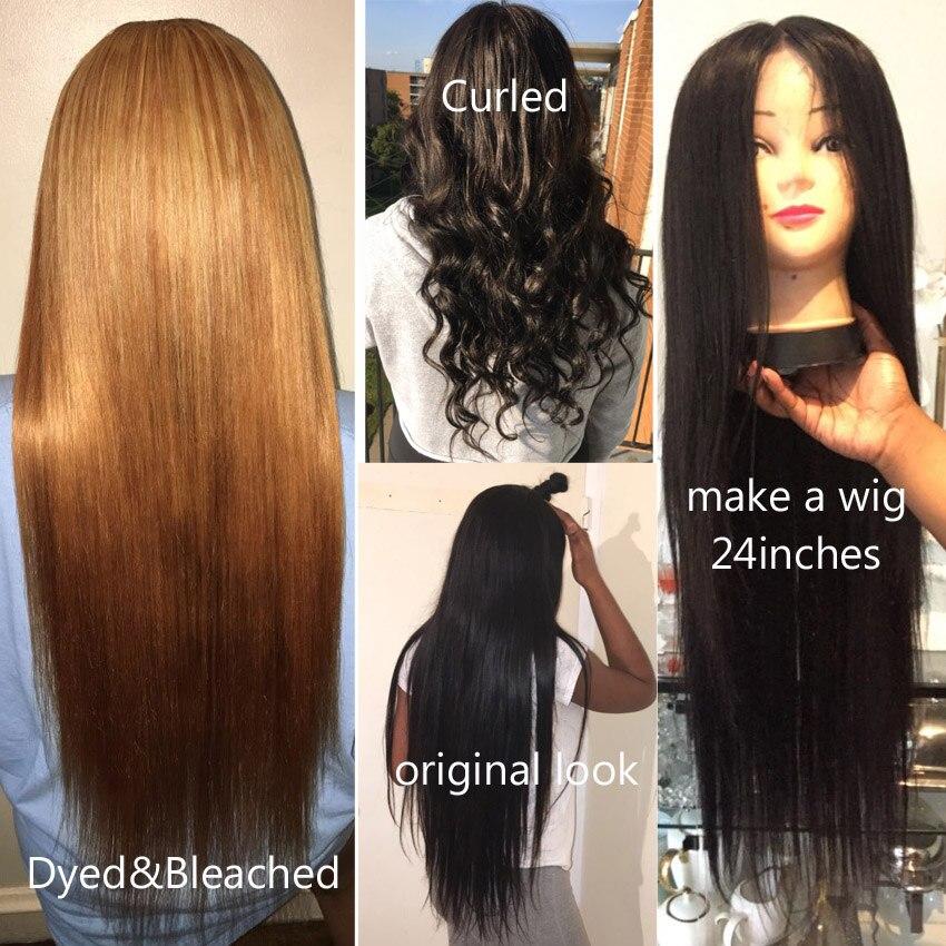 lemoda бразильские прямые пучки волос плетение