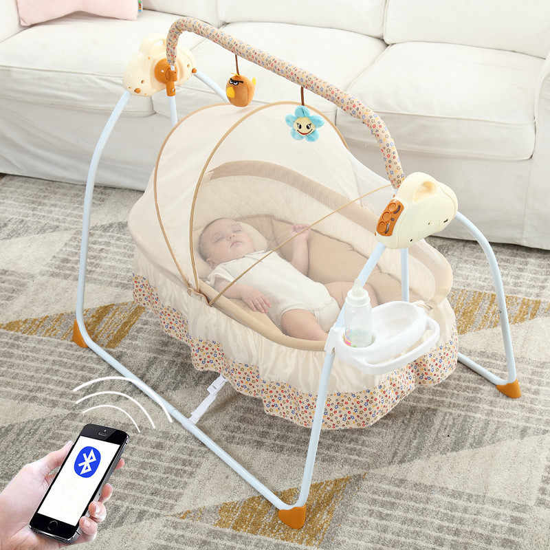 Multifunctional Baby Cribs Intelligent Electric Portable Baby Bed Infant Music Rocking Chair Sleepy Artifact Nidos Para Bebes