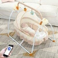Многофункциональный Детские кроватки интеллектуальные электрические Портативный кровать для новорожденных музыка кресла качалки Sleepy арт
