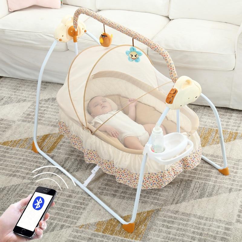 Multifonctionnel bébé berceaux Intelligent électrique Portable bébé lit infantile musique chaise berçante endormi artefact Nidos Para Bebes