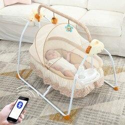 Multifunctionele Baby Bedjes Intelligente Elektrische Draagbare Baby Bed Zuigeling Muziek Schommelstoel Slaperig Artefact Nidos Para Bebes