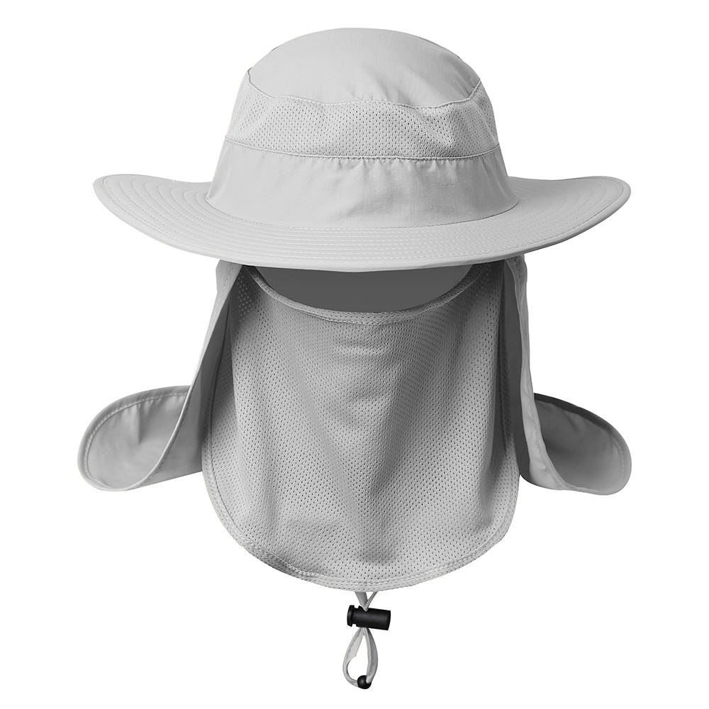 Outdoor Fishing Hat Sun Protection Neck Face Flap Cap Wide Brim For Men Women US