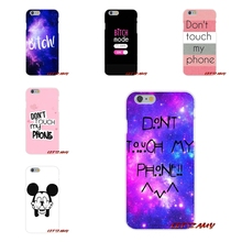 Accessories Phone Shell Covers For Sony Xperia Z Z1 Z2 Z3 Z4 Z5 compact M2 M4 M5 E3 T3 XA Aqua DON'T TOUCH MY PHONE BITCH