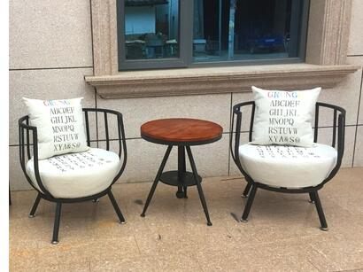 American style lof.t iron balcony sofa. Personalized casual cloth single sofa chair the nordic chair solid wood chair cloth art single person sofa chair