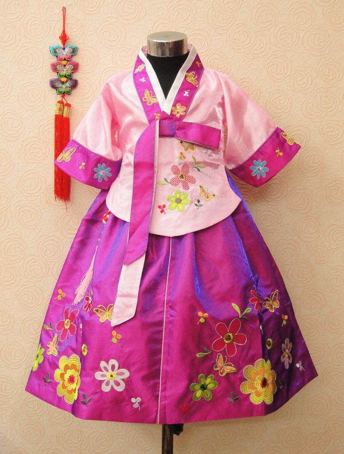 Trušu meiteņu hanbok bērnu apģērbu kleita pavasara un rudens - Bērnu apģērbi - Foto 2