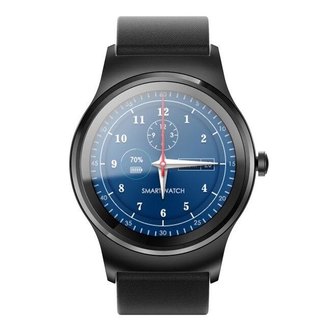 Творческий Часы Мужчины KW18Heart Rate Monitor Вызов Bluetooth Анти-Потерянный Смарт Наручные Часы Mate Кожи Спортивные Часы