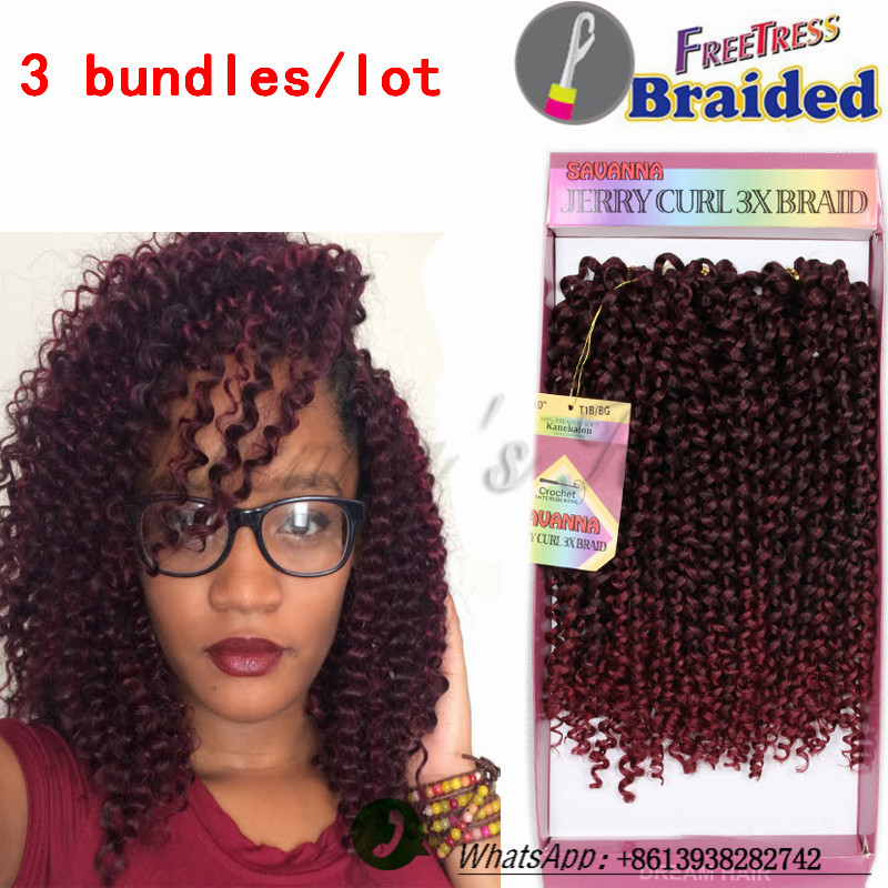 Ombre braiding hair 10inch freetress water wave hair two ...