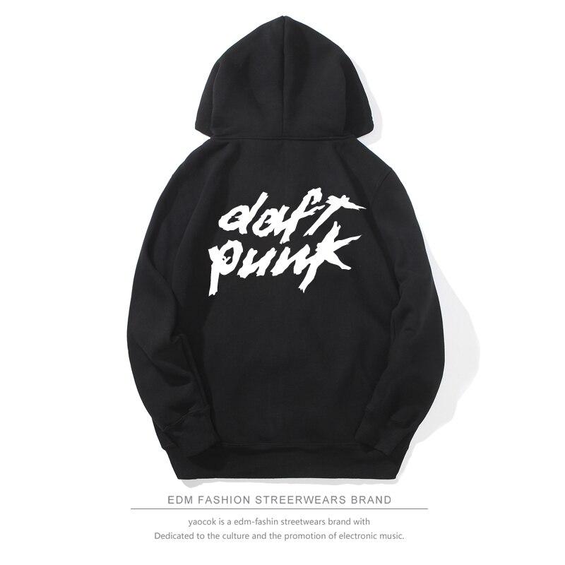 2017 Daft Punk Autumn Harajuku Hoodies Men Zipper Sweatshirt Men Streetwear Unisex Daft Punk Print Hoodies Plus Size