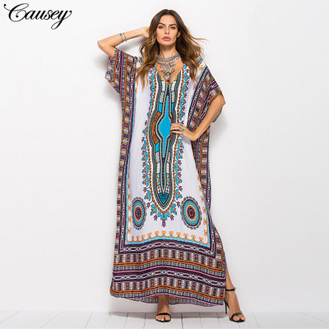 Vestido de verano de talla grande de Abaya, Túnica musulmana