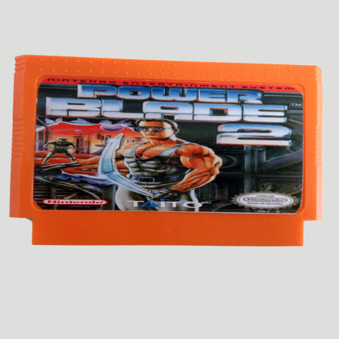 Top Quality Game Cartridge 60 Pins 8 Bit Integrated Game Card Better Than Bean Card — Power Blade II Second Edition