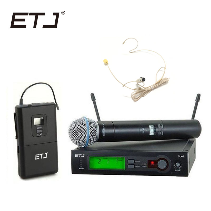 Top Quality SLX SLX24 BETA58 SM 58 UHF Professional Wireless Microphone System Super Cardioid BETA Handheld