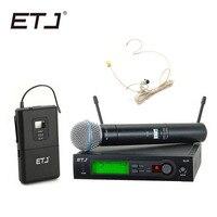 Одежда высшего качества SLX SLX24 BETA58/SM 58 УВЧ Профессиональный Беспроводной микрофон Системы супер кардиоидный бета ручной микрофон Mic