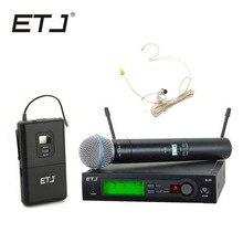 Calidad Superior SLX SLX24 BETA58/SM 58 UHF sistema de micrófono inalámbrico profesional supercardioide BETA micrófono de mano Mic